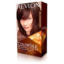 Tintura Revlon Colorsilk 3d Tono 32 Castaño Caoba Oscuro