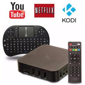 Kit Mini Box Pc Wifi + Mini Teclado Smartv Netflix Youtube