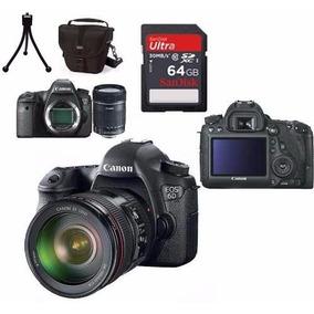 Câmera Canon Eos 6d+24-105mm+bolsa+tripé+64gb Em São Paulo