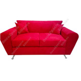 Sofa Modelo Simpson 2 Cp Con Almohadon Pana O Tela Chenille