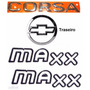 Emblemas Corsa Sedan + Maxx Preto + Mala - 2003 À 2007