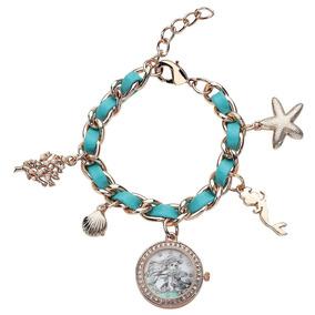 Ariel La Sirenita Exclusivo Reloj Brazalete Con Dijes Disney
