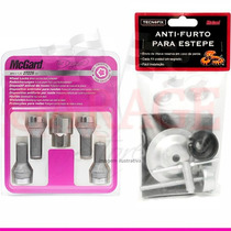 Kit Anti-furto Mcgard P/ Rodas E Estepe Do Peugeot 208