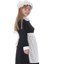 Disfraz Para Niña Traje Blanco Delantal Para Niños Un Tamañ