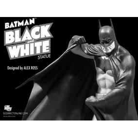 Estátua Batman Alex Ross Dc Comics Black White