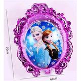 Globo Metalizado Frozen Elsa Ana Doble Cara 70 Cm Zea