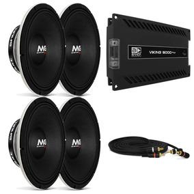 Modulo Banda Viking 5000 + 4 Woofer 12 P Shutt 600 Rms + Rca