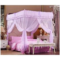 Cuatro Esquinas Púrpuras Del Poste Romance Y Elegancia Told