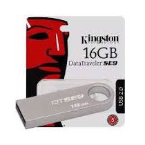 Kit 5 Unidades - Pendrive 16gb Kingston Dtse9 Metal Original