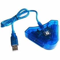 Kit De 10 Adaptadores Usb P/ 2 Controles Ps2 E Ps1 - Lefa