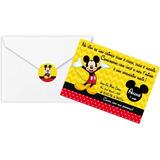 30 Convites Aniversario Personalizado Com Envelope E Lacre