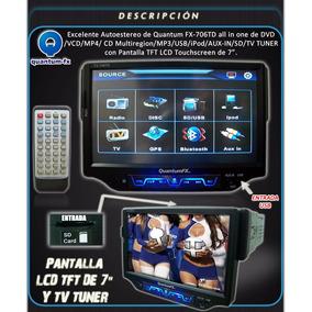 Autoestereo De Pantalla Quantumfx Fx-706td