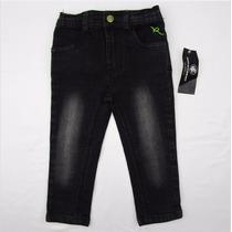 Hermoso Pantalon Negro Stretch P/niña Roca Wear Talla 18 M
