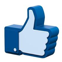 Figura Antiestres Facebook Like, Eventos, Regalos,serigrafia
