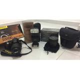 Camara Reflex Nikon D3100 + Flash + Fish Eye