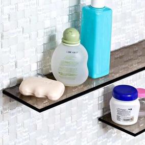 Prateleira Raque Ou Porta Shampoo De Vidro Com 30x10cm
