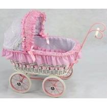 Carreola Para Muñecas Tipo Antigua Mimbre Baby Shower