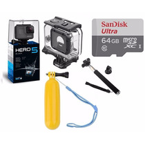Go Pro Hero5 Black Camera Gopro 5+cx Estanque+64gb+02bastão