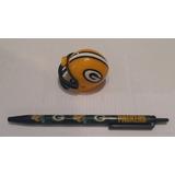 Kit Green Bay Packers - Mini Capacete + Caneta Nfl