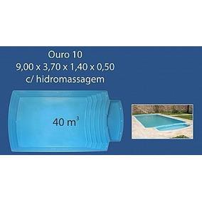 Piscina Fibra Ouro Preto Ouro 10 9,00 X 3,70 X 1,40 X0,50