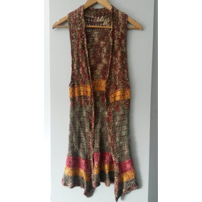 Chaleco De Mujer Tejido Al Crochet