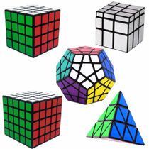 Kit Cubo Mágico 4x4x4, 5x5x5, Mirror, Pyraminx, Megaminx