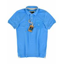 Camisa Polo Azul Jeans Com Bolso - Original Sheepfyeld
