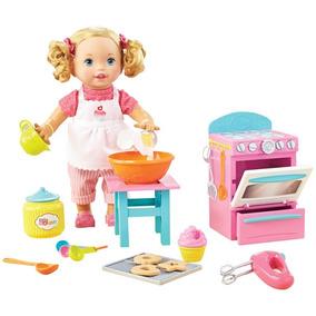 Boneca Little Mommy Pequena Chef Mexe Os Bracinhos Mattel