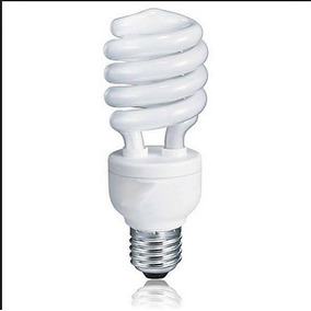 Lâmpada Compacta 25w 220v E27 Espiral Branco Quente 2700k
