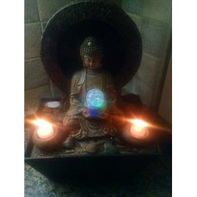 Fuente De Agua Buda Luz Velas Piedras Feng Shui Video (726)