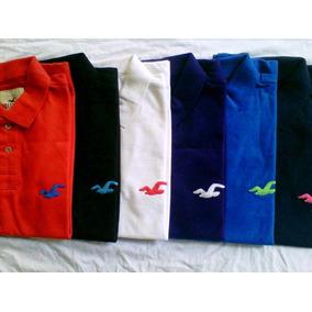 Kit 5 Camisa Camiseta Polo Hollister Abercrombie Masculina