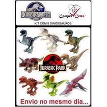 8 Bonecos Lego Dinossauros Jurassic World Park Minifigures