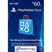 Tarjeta Play Station Store Psn - $60 - Gift Card - Prepago