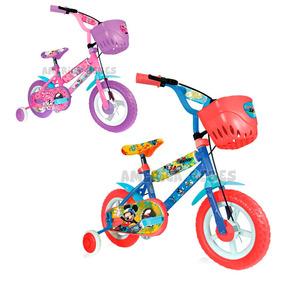 Bicicleta Rodado 12 Mickey Minnie Disney Hot Sale