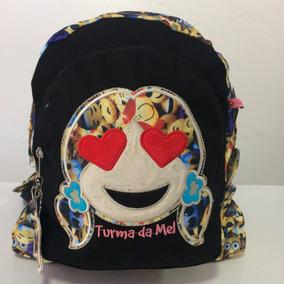 Mochila Escolar Emoji Turma Da Mel Ref.mc23457