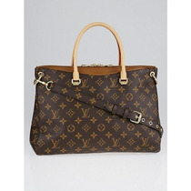 Bolsa Monogram Canvas Pallas Caramelo