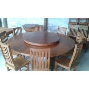 Conjunto Roma Mesa Redonda 1,60x1,60m Giratório + 6 Cadeiras