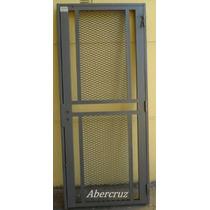 Puerta Reja Hierro Maya Metal Desplegado Seguridad 90x200