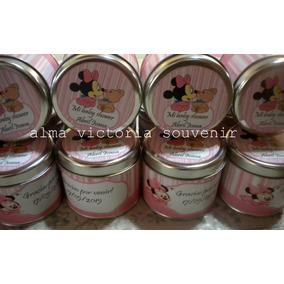 Latas Personalizadas Caramelera Souvenir Minnie Mouse X 10 U
