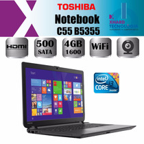 Notebook Toshiba C55 B5355 Core I3 4005 4gb 500gb Win8 Hdmi