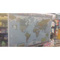 Mapa Mural Laminad Planisferio 95 X 130 Politico Microcentro