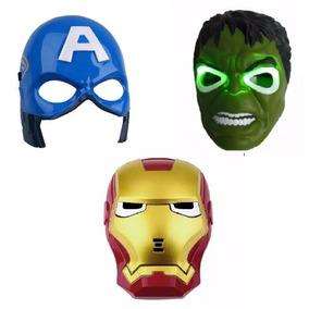 Kit De 3 Mascaras Huck Homem De Ferro E Capitão America