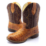 Bota Country Masculina Cano Longo Texana Rodeio Couro Amarel