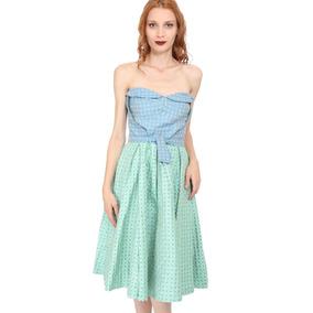 Vestido Reina Díaz Brocado 11 (m/l) Nuevo Pinup Tipo Vintage