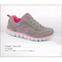 Tenis De Color Gris Marca Charly Para Dama Gagashop 01