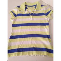 Camisa Gola Pólo Feminina Infantil Tommy Hilfiger