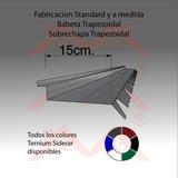 Zingueria Babeta Trapezoidal 2.44mt Color A Eleccion. Envios