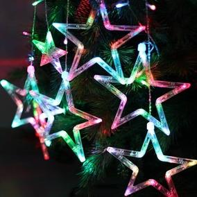Serie Navideña 140 Luces Led 2 Metros 12 Estrellas Luminosas