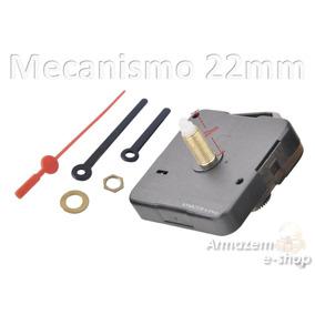 Kit Maquina Relógio Quartz De Parede Eixo 22mm C/ Ponteiros
