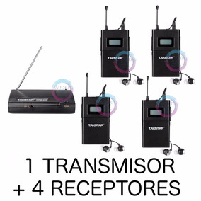 Sistema Monitoreo Inalámbrico In-ear Cuatro Receptor Wpm200